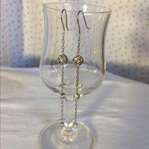 CZ & sterling silver earrings